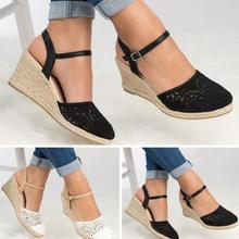 High heel hollowed sandals womens shoes summer lace slingbac