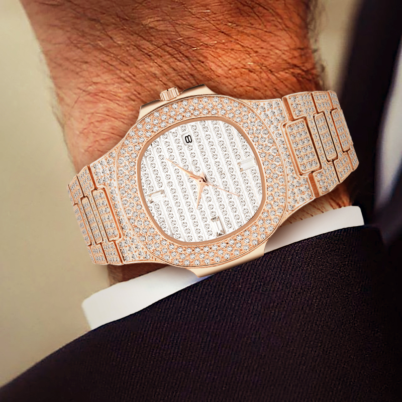 Relogio Masculino MISSFOX Classic Quartz Watch Men Luxury Brand Rose Gold Patek Gift For Man Watch Patek Xfcs Waterproof Watch