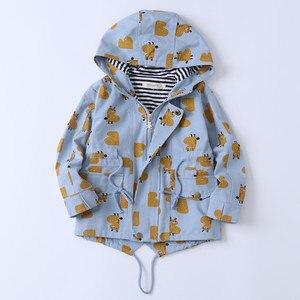 Image 3 - Куртка детская с капюшоном, на молнии, с большими карманами, 90 135 см
