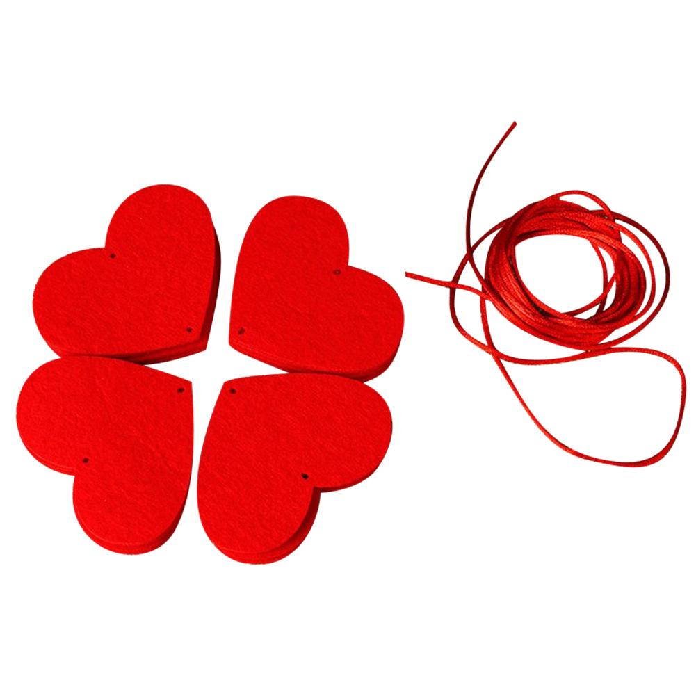 16 Hearts with Rope DIY Non-woven Drape Door Curtain Romantic Wedding Supplies Decoration for Marriage Room Layout