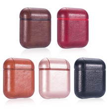 Luxury Leather Texture For AirPods Accessories Bluetooth Wireless Earphone For Air Pods 2 Headphones Protective Case Funda Cover