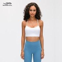 Mermaid Curve Flow Y Bra Yoga Top Uitneembare Cups Licht Ondersteuning Pilates Sport Beha Klassieke Racerback Minimale Naden Fitness Bras