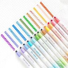 12 sztuk/zestaw nowość magiczny kolor pisaki artystyczne odbarwione zakreślacz Spot Liner długopisy Scrapbooking DIY pióro do rysowania