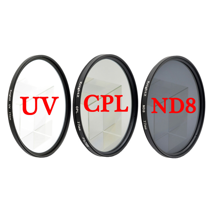 KnightX CPL ND8 UV Filter Lens Filter For Canon Eos Sony Nikon D80 50d 200d 60d D600  500d Photo 49MM 52MM 55MM 58MM 62MM 67MM