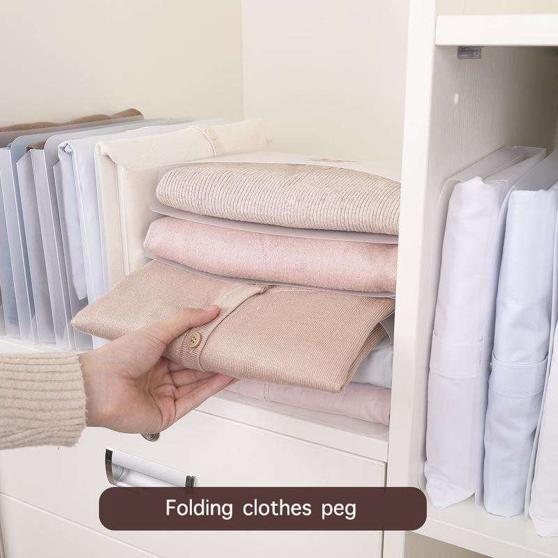 5/10Pcs Magic Clothes Folder T Shirt Jumpers Organiser Adult Child Clothing Folding Board Quick Clothes Holder Laundry Organizer