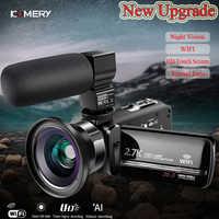 Original KOMERY Video Kamera WiFi 2,7 k Vlogging Camcorder Für Youbute Touchscreen 30MP 16X Digital Zoom Fabrik Handycam