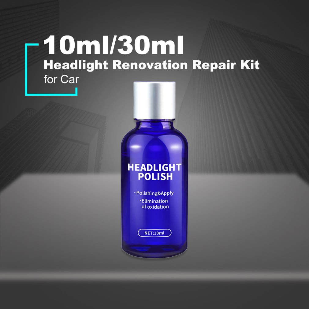 10ml/30ml Car Headlight Renovation Repair Kit Repair Spray Polishing Coat Repair Car UV Lights Polishing Tool Headlight Cleaning