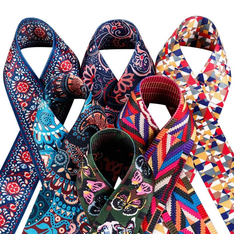 Nylon Colored Belt Bags Strap Accessories For Women Rainbow Adjustable Shoulder Hanger Handbag Straps Decorative Chain Bag Obag