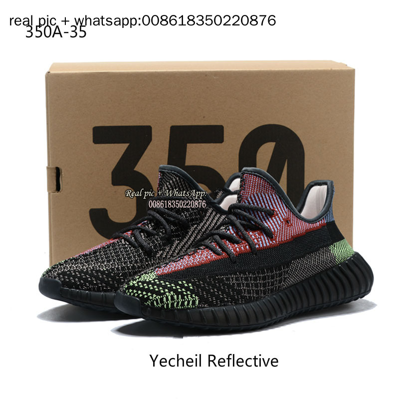 2020 High quality 350 V2 Breathable shoes Static reflection Trfrm Clay shoes for men and women a pair of Angel Star sneakers