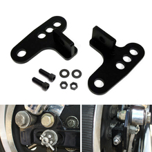 Motorcycle 1-3 Rear Adjustable Lowering Drop Kit For Harley Sportster XL Models 883 1200  XL883 XL1200 1988-2014 Hugger Models for harley sportster xl models 883 xl883 xl1200 touring road king street highway adjustable clamps footrest footpeg foot pegs