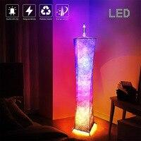 Lámpara LED de pie moderna con ambiente cambiante de Color RGB, decoración del hogar con Control remoto, tela de cintura delgada para Hotel, sala de estar