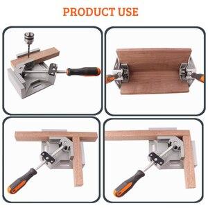 Image 2 - Алюминиевый угловой зажим AMKOY 90 градусов, прямоугольный зажим, инструмент, одна ручка, деревянные металлические сварочные зажимы, тиски для деревообработки, держатель
