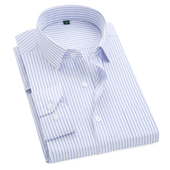 Plus Size S to 8xl formal shirts for men  striped long sleeved non-iron slim fit dress shirts