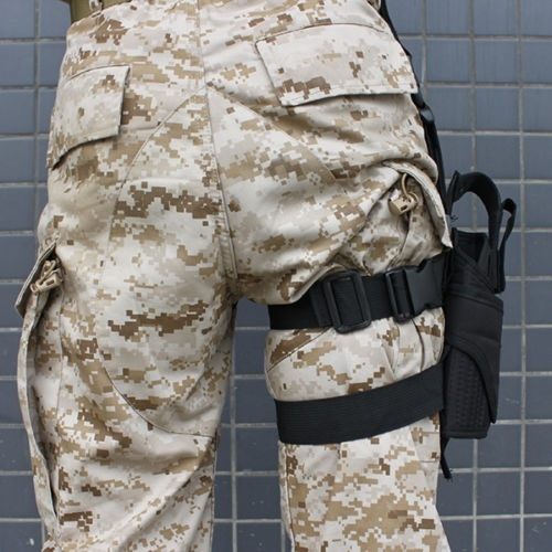 Adjustable Tactical Army Black Pistol Gun Drop Leg Thigh Holster Pouch Holder Men And Women All Can Use More Color Choose
