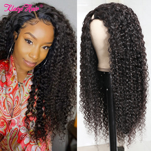 Wig Human-Hair Jerry Curly Glueless Full-Sew in KLAIYI Can-Be-Permed--Dye