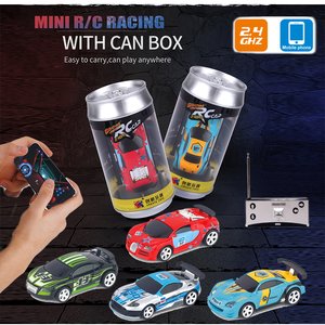 1:58 Remote Control MINI RC Car Battery Operated Racing Car PVC Cans Pack Machine Drift-Buggy Bluetooth radio Controlled Toy Kid