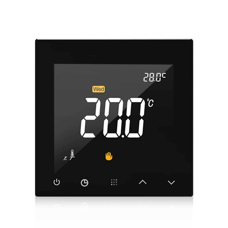 Affichage de couleur d'écran tactile de contrôleur de température de chauffage par le sol Programmable de Thermostat intelligent de WIFI avec la télécommande d'app
