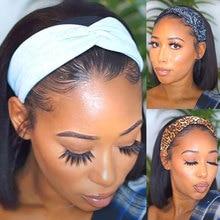 Парики лента для волос парики Цвет 1B синтетические парики для Для женщин 8 10 12 14 16 дюймов Жаростойкие накладные волосы парики на каждый день
