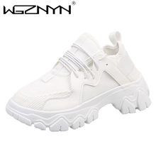 NEW Women Platform Lady Sneakers Women Shoes Fashion Female Outdoor Sneakers with High Sole Shoes Woman Chunky Dad Sneakers 2020(China)