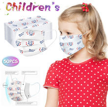 50pc Kids Children's Respirator Scarf Mascarilla Mask For Face Маски Mascherine Disposable Respirator Industrial 3ply Ear Loop(China)