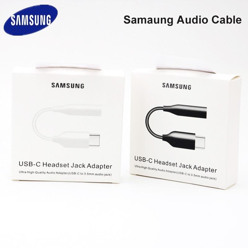 Samung original fone de ouvido cabo áudio usb c para 3.5mm aux adaptador para samsung galaxy s20 + nota 10 a90 a80 a8s a60 s10 s9