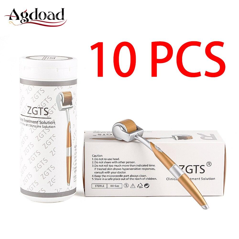 10pcs 0.2/0.25/0.5mm Titanium Derma Roller 192 Needles Microneedle Dermaroller Face Skin Care Tool ZGTS Face Skin Roller System