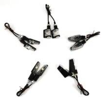 Luz de seta universal para motocicleta rizoma, 2 peças, para chopper café âmbar, luzes indicadoras, liga de alumínio, preta com caixa de caixa