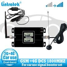 자동차 사용 셀룰러 repetidor gsm 900 lte 1800 2g 4g 안테나 신호 부스터 핸드폰 셀룰러 gsm 4g 신호 리피터 앰프