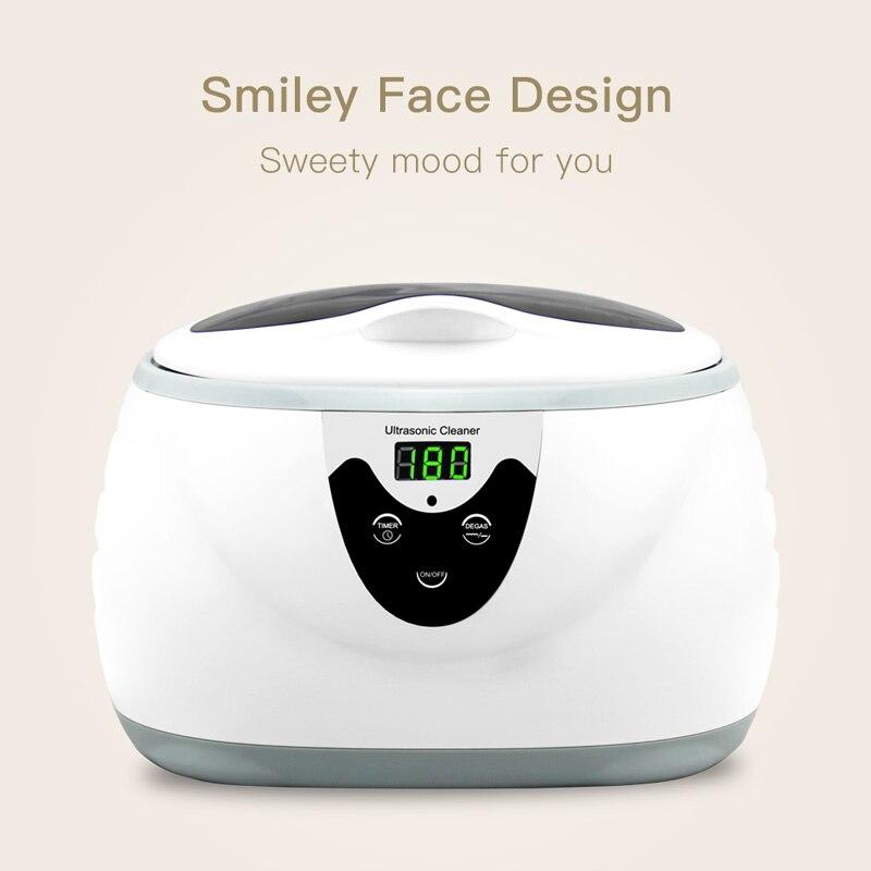 SKYMEN 600ml Ultra sonique nettoyant manucure outils sonique nettoyage bijoux lunettes prothèse dentaire maison ultrasons bain Machine à laver