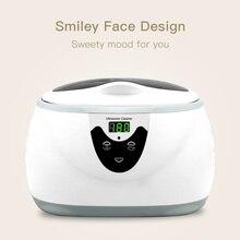 Skymen 600ml ultra sonic cleaner manicure ferramentas de limpeza sônica jóias óculos dentura casa ultra som banho máquina lavar roupa