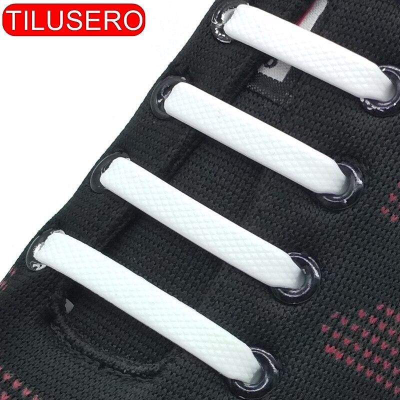 16pcs/lot Shoes Accessories Elastic Silicone Shoelaces Elastic Shoelace Creative Lazy Silicone Laces No Tie Rubber Lace