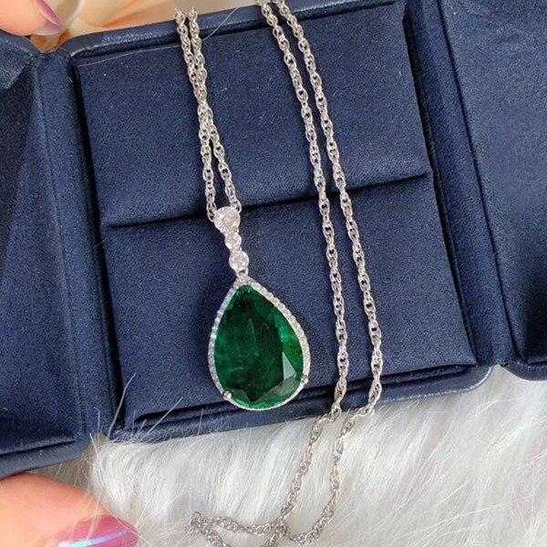 Collier de fête en argent Sterling 925 bijoux 3A zircon cubique