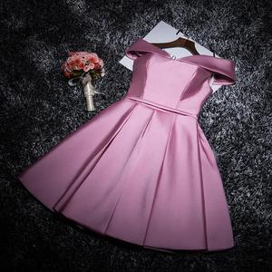 Lanxirui бордовый розовый элегантный по колено однотонные вечерние платья с открытыми плечами для женщин торжественное платье Vestidos