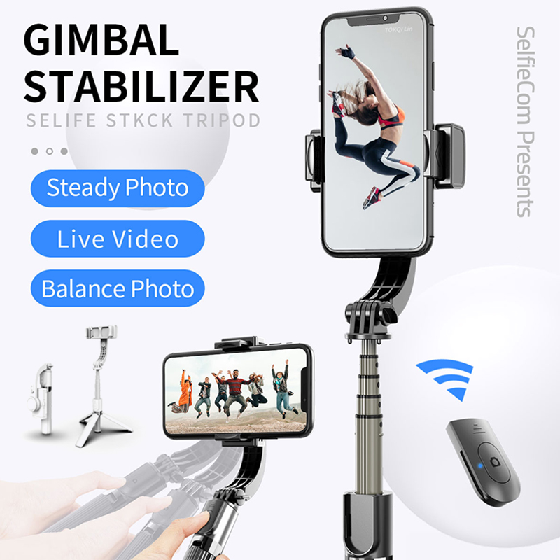 Outdoor Universal Portable Handheld PTZ Stabilizer Tripod for Mobile Phone Sports Camera H-best image