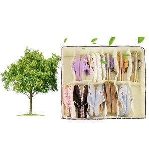 Image 3 - Hot Sale Home Accessories 12 Grid Transparent Dustproof Shoe Organizer PVC Shoe Storage Box Space Saving
