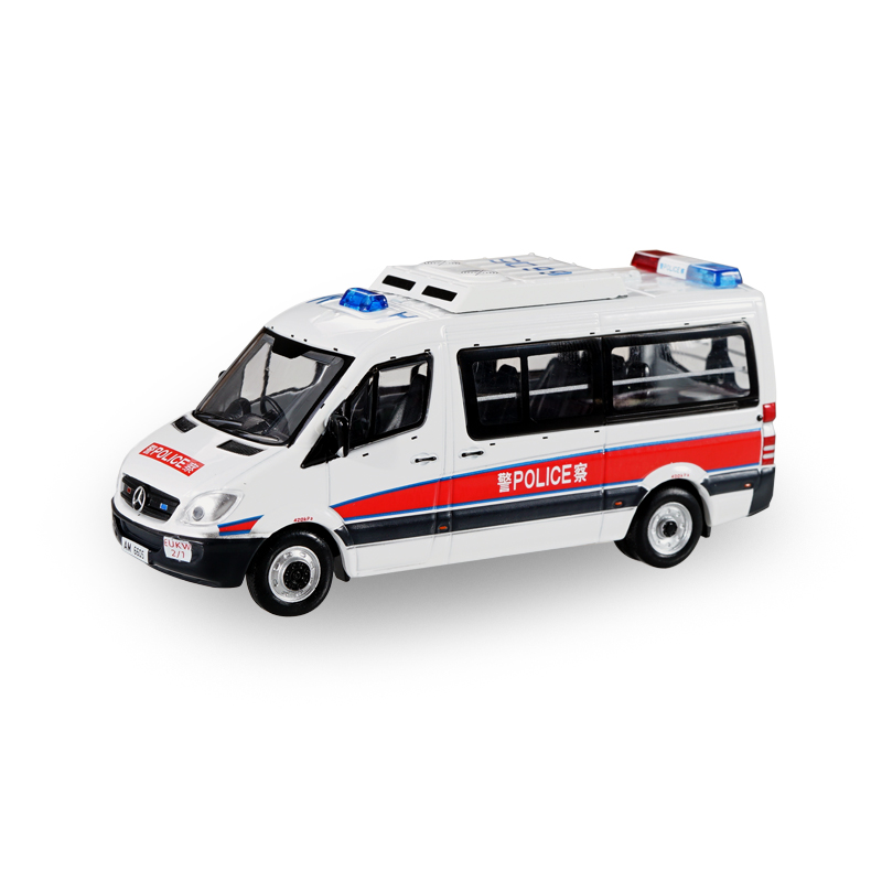 XCarToys 1:64  Sprinter HongKong H.K. EU / Traffic Police Cars Diecast Model Car