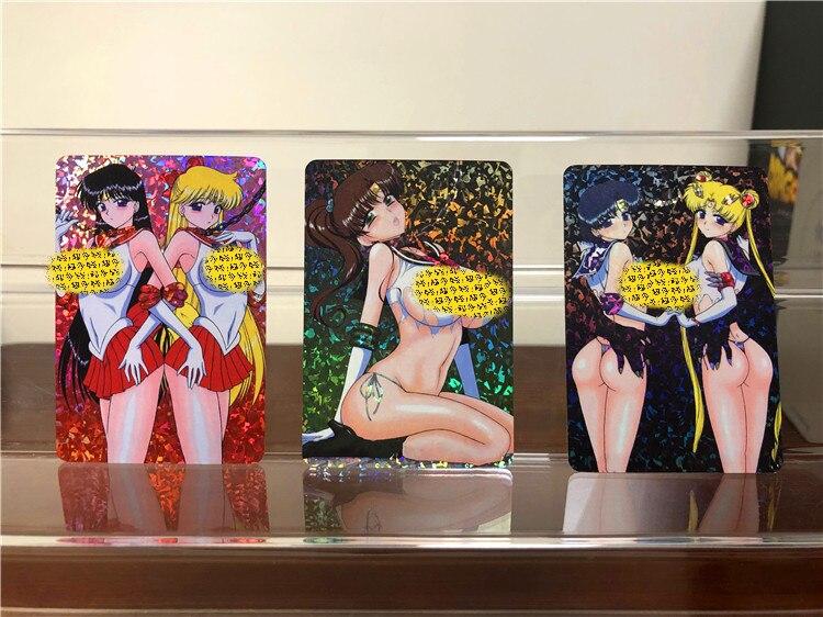 9pcs Anime Sailor Moon Holographic Flash Card Collection Card Anime Card Christmas Gift