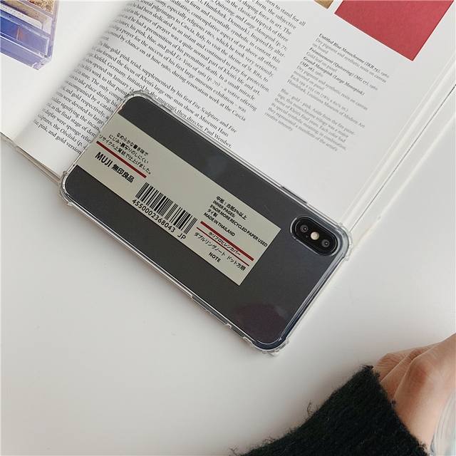 Japan personality Barcode MUJI phone case For iphone