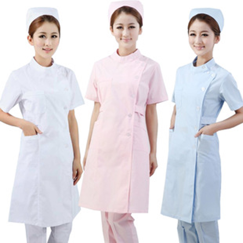2019 High Quality Short&full Sleeve Spa Hospital Nurse Uniform Women Gown Medical Costumes Solid Scrub Tops Clinic Wear