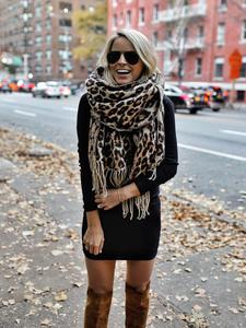 Blanket Scarf Poncho Foulard Cashmere Brown Warm Thicken Soft Long Women Winter Femme