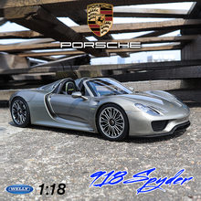 Welly 1:18 Porsche 918 super run legering model auto simulatie auto decoratie collection gift toy spuitgieten model jongen speelgoed(China)