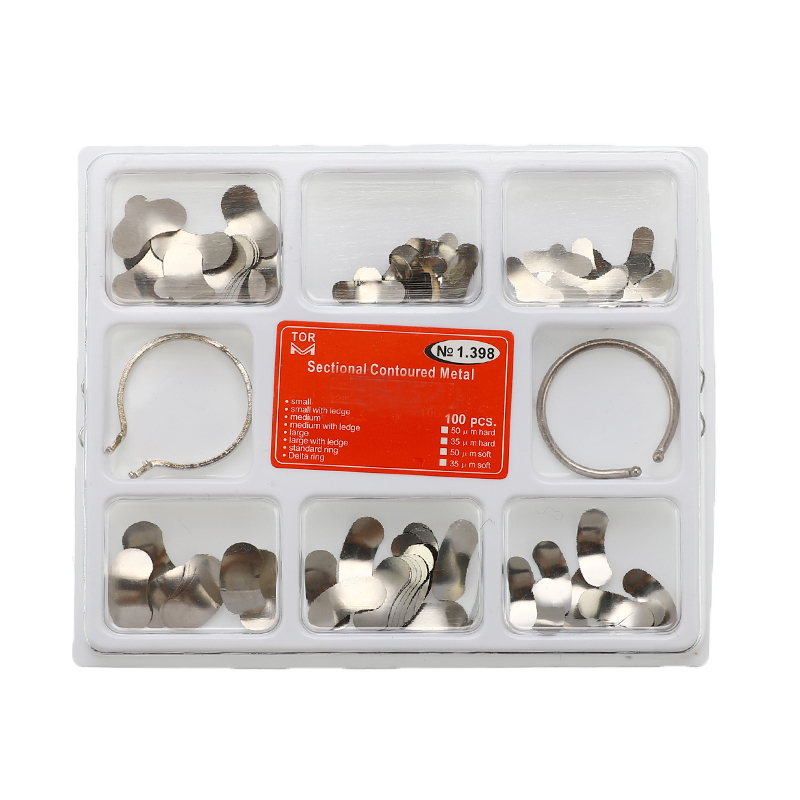 100pcs Dental Matrix Sectional Contoured Metal Matrices Bands Dental Matrix Rings Full Teeth Replacement Dentsit Oral Care