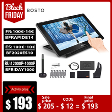 BOSTO BT 16HDT נייד 15.6 אינץ H IPS LCD גרפיקה ציור דיגיטלי טבליות אמנות גרפיקה Tablet צג 8192 Leverls לחץ