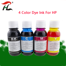 4 Color Dye Ink For HP,4 Color+100ML,for HP Premium Dye Ink,General for HP printer ink all models 802XL 803XL 62XL 63XL 301XL