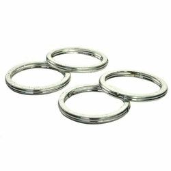 4pc Motorcycle Exhaust Pipe Header Gasket for YZF-R6 R6 YZF600R YZF600R YZF600RR FZ600 YXR660 FZ6S YXR66 FZ-6 FZS6 R6S YFM66F