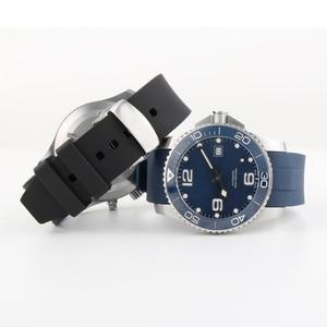 Image 2 - Bracelet de montre en Silicone 21MM, pour Hydro conquête L3 41mm 43mm, cadran pour Explorer2, Bracelet en caoutchouc