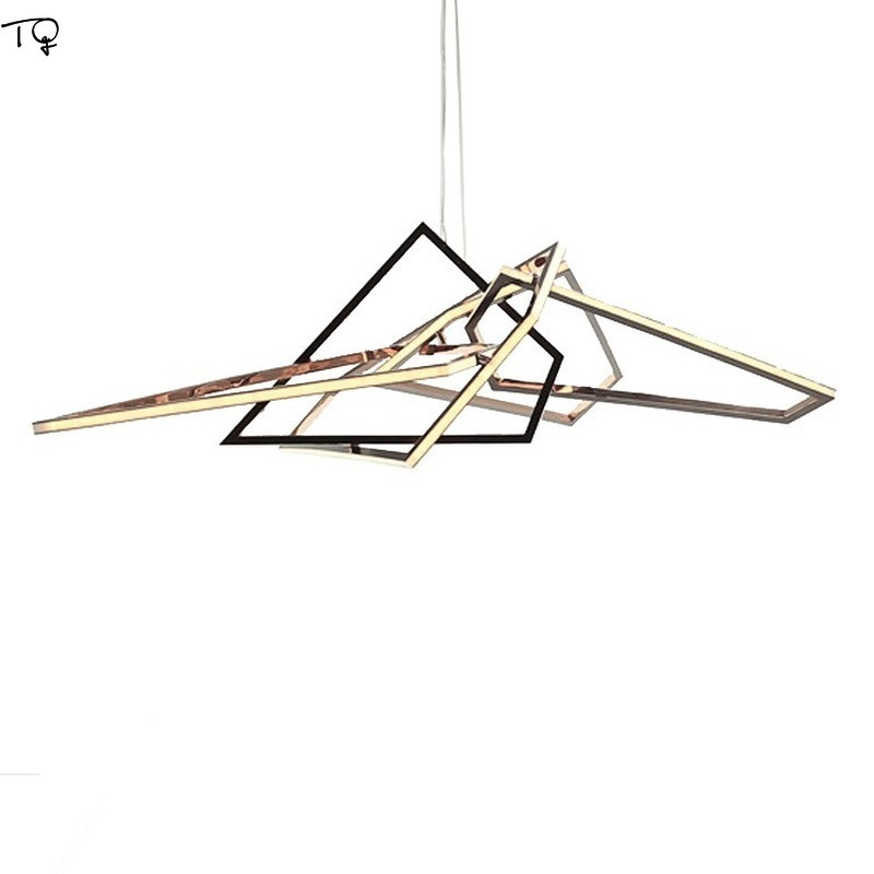 Nodic Postmodern Iron Acrylic LED Pendant Lights.Geometric Aesthetics hanging lamp Dinning Room living room bedroom dinging room