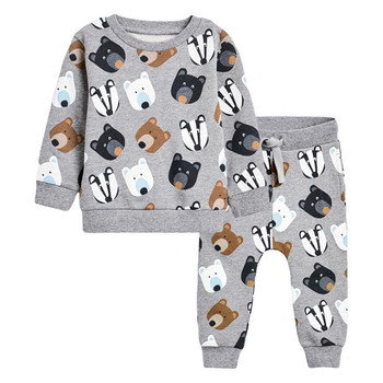 Cotton Boys Clothing Sets Cartoon Animals Children Sweaters Pants Autumn Suits Baby OutSuits