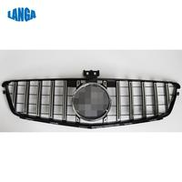 Fits for Mercedes Benz C Class W204 08 14 Front Grille GT Silver with emblem
