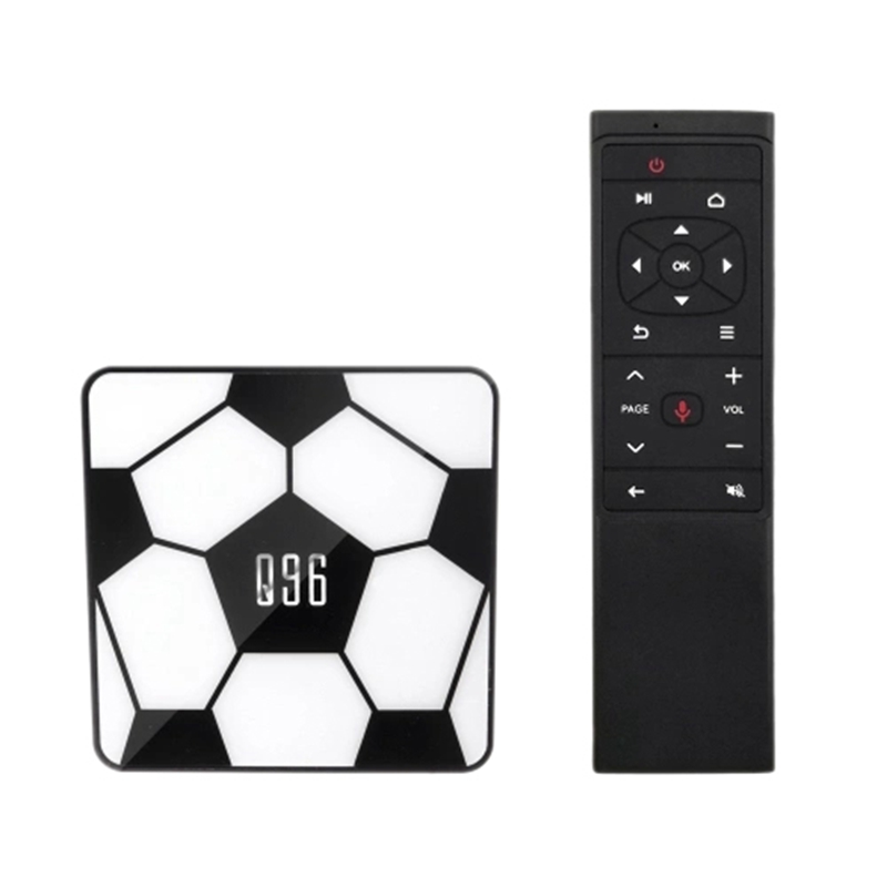 Q96 Smart Android 9.0 Tv Box Rk3229 Quad Core Uhd 4K Media Player 2Gb / 16Gb 2.4G Wifi H.265 Vp9 Hdr10 Video Player Voice Remote